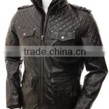 Fashion men long leather coat of leather jackets for men,brown brand wind coat for men with fur collar