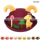MZ3036 New Kids Baby Girls Winter Warm Hats Woolen deer Ear Cap Children's Bucket Hat