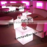 shanghai commercial furniture wholesale nightclub acrylic lounge LED light sitting cube seat