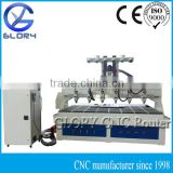 CNC Router with 6 Spindles/Head Yaskawa Servo Motor/3 Axis/DSP Controller