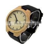 Mens Watch Natural Wood Watch Original Wood Grain Watches with Genuine Leather Strap