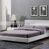 4 Colour Remote Latest Double Bedroom Furniture Design LED Head King Size PU Leather Bed Frame