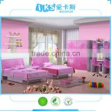 2015 Newest design kids cartoon bedroom furniture was made from MDF board and environmental protection paint K115