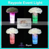 Hot new products for 2015 Party wedding home decor 10cm round battery operated vase led base