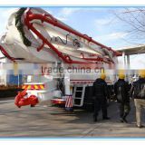 Boom Length 45m HOWO Chassis Truck mounted Concrete Pump With REXROTH Valve