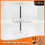 professional portable disc golf basket with light weight