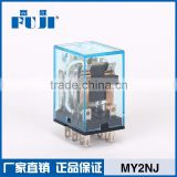 HH52P 8 Pin 24v relay AC Coil High Quality MY2NJ General Purpose Relay 2NO+2NC Led Relay
