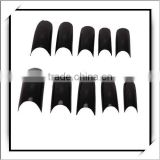 100pcs Black Acrylic French False Nail Half Tips Box Package