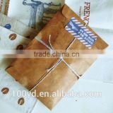 China 2016 Good Quality Varnishing Kraft Envelope With String Tie