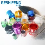 colorful aluminium core pigeon rings with plastic hung on cage plastic bird feeder racing pigeon club