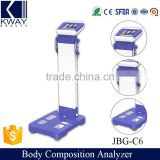 CE approved body composition analyzer & bioelectrical impedance analyzer machine for sale