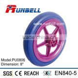 Baby Buggy Stroller Rubber PU Foam Wheels 8""