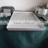 OEM ODM Factory Supply Top Quality Custom Sheet Aluminum Metal Tray for seafood fast frozen processing