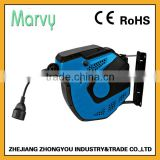 Best quanlity Self roll-up and10m retractable H05VV-F3*2.5mm electric cable reel