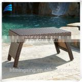 Outdoor rattan wicker brown stylish side table