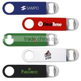OEM Souvenir gift stainless steel bar blade beer bottle opener with PVC coated for beer promotion