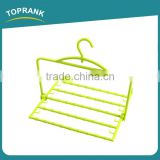 Cheap Hot Selling Four Layers Adjustable Plastic Foldable Trouser Hanger Plastic Pant Hanger