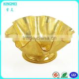 luxury Design Promotional High Foot style Acrylic Fruit Tray,Plastic Container and dishes
