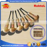hand wood carving chisel set 6 piece gouge woodworking cut craft sculpture carpenter tool