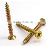 Pozi double flat head yellow zink chipboard screw