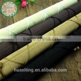 Colored matchstick bamboo window roll up blinds