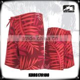 Four way stretch fabric digital printing mens board shorts custom