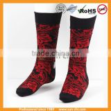 latest design fashion men multicolor geometric soft cotton casual dress socks