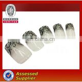 Classics french artificial nails full cover fingernail tips