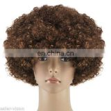 Brown blonde afro wig FGW-0036