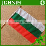 polyester print country bulgaria hand shaking flag for UEFA EURO 2016