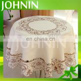 hot selling wholesale customized round embroidery table cloth