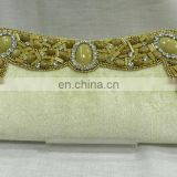 Royal High quality beaded clutch purse