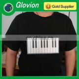 Glovion Led display t-shirt electronic music flashing voice control t-shirt