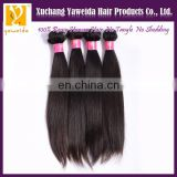 Xuchang best quality hair Chinese silky straight natural color hair weaving
