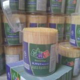 Toothpick China Bamboo Factory 1.45-1.55X65mm 900PCS/Bottle 10bottles/Box 30boxes/Carton