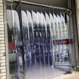 Free Sample PVC Market Door Curtain Factory OEM Transparent Commerical Curtain 2MM Thickenness 18.5CMx50M