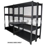 Supermarket Multi-layers Black Rack supermarket fruit and vegetable and fruit display shelf Double-sides Metal Display Shelf