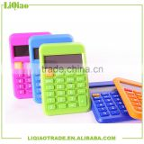 Korean Novelty 12 digits LCD destop calculator with solar energy for office