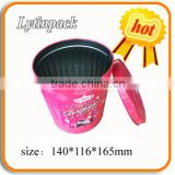 popcorn round tin bucket with lid