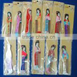 Newest gifts of traditional Chinese beauty girls design small wooden hair comb 12 figures mixed