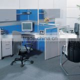 Modern looking Workstation, Industrial Computer Cubicle with overhead cabinet for 2 person ( SZ-WS461)