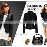 2014 european style PU leather jackets fashion for women 2014 apparel J0836063