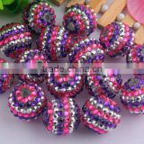 Wow!!!Hot sale fashion charm crystal rhinestone resin strips gumball jewelry beads for kids necklaces making!
