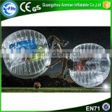 New style clear self human inflatable ball costume,bubble football for sale                                                                                                         Supplier's Choice