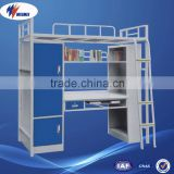 Iron Dormitory Mini Kids Adult Metal Bunk Bed Price With Desk and Wardrobe