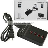 4 Port USB Multi Tablet Smartphone Device Charging Station
