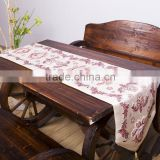 PLUS Classic Embroidery European Style Tassel Dining Table Runners Sequined Lace Hotel Bed Coffee Table Runners 13inch*70.8inch