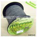 Zhejiang Outdoor Wholesale Fishing Tackle Japanese PE Fishing Longline Super Strong Braided Line 4 Strands 20lb 1000m Fluo