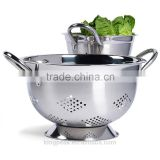 2015 Best Selling Stainless steel Colander Set/stainless steel colander and pot/Mixing Bowls and Colander