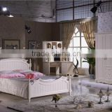 sample design bedroom set /child lovely bedroom set with study table H201